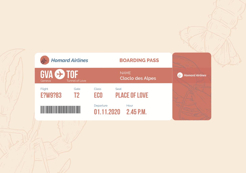 Labo : Carte de voeux - Homard Airlines