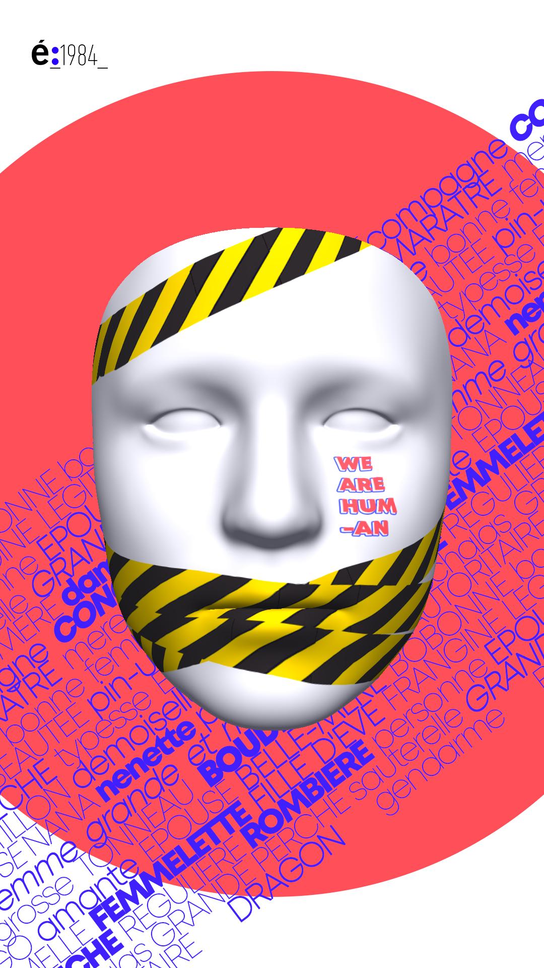Concours : étapes et l'école 1984 - Pimp my Mask - Vue de face
