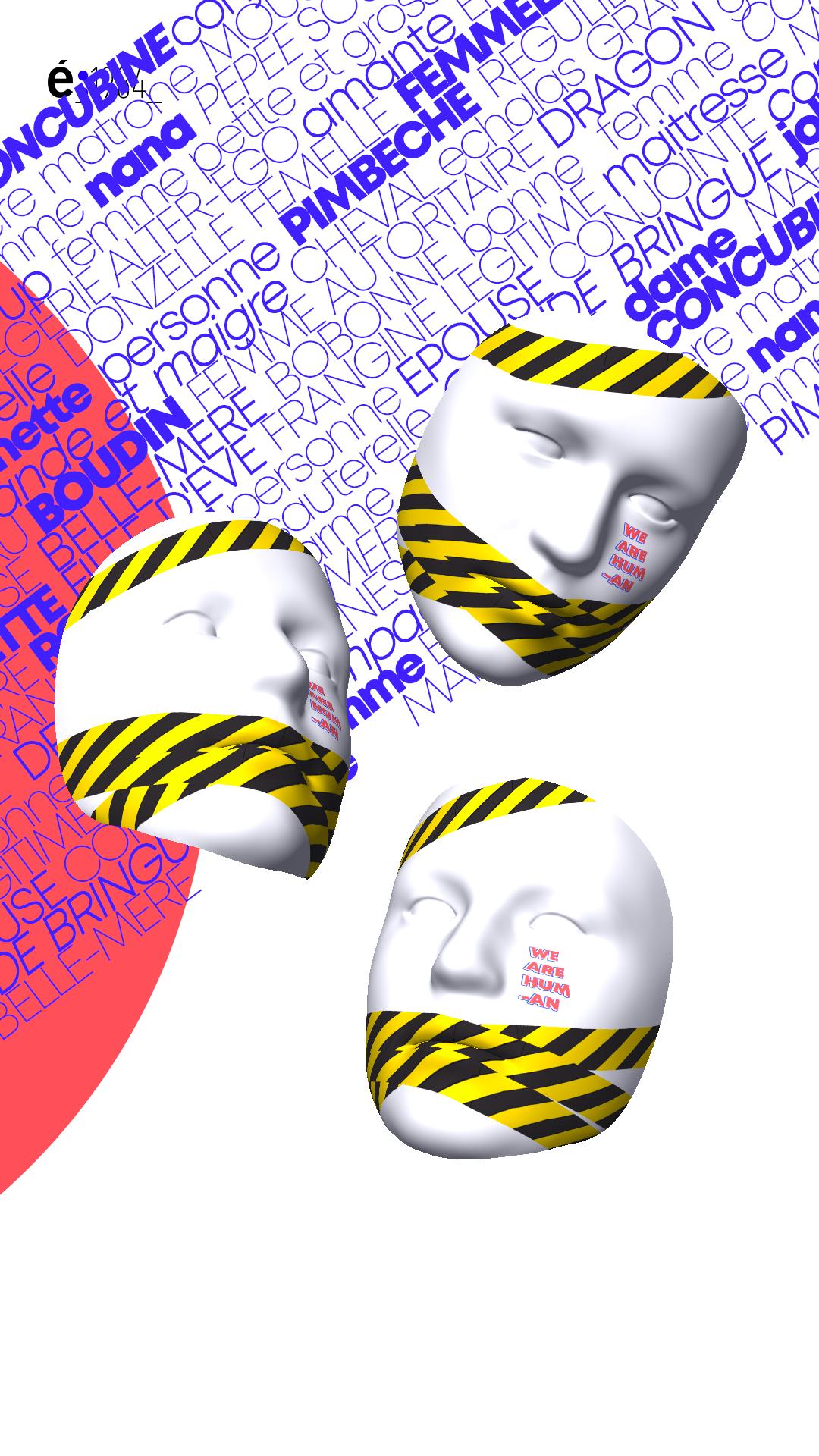 Concours : étapes et l'école 1984 - Pimp my Mask - Vue composée
