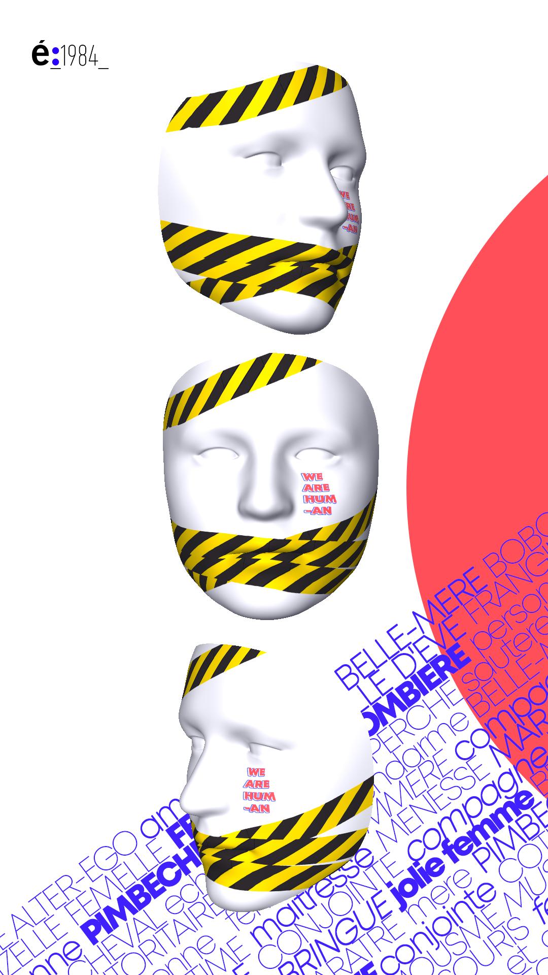 Concours : étapes et l'école 1984 - Pimp my Mask - Vue verticale