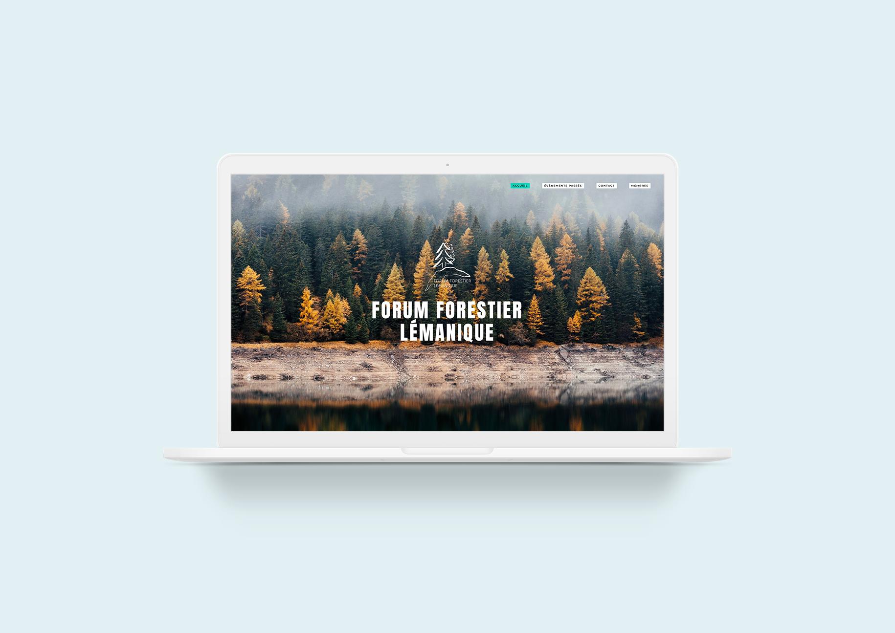 Forum Forestier Lémanique : Mockup de la Home du site internet