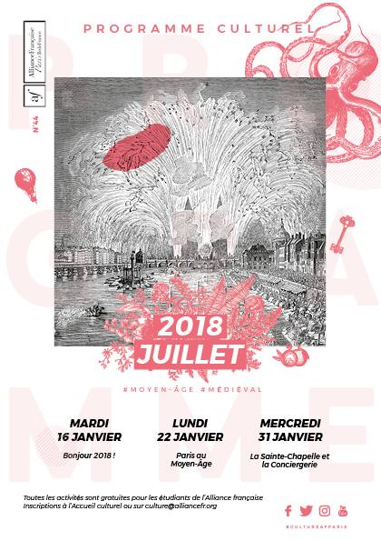 Alliance Française : Couverture du mois de juillet 2018