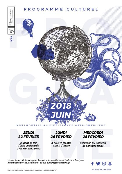 Alliance Française : Couverture du mois de juin 2018
