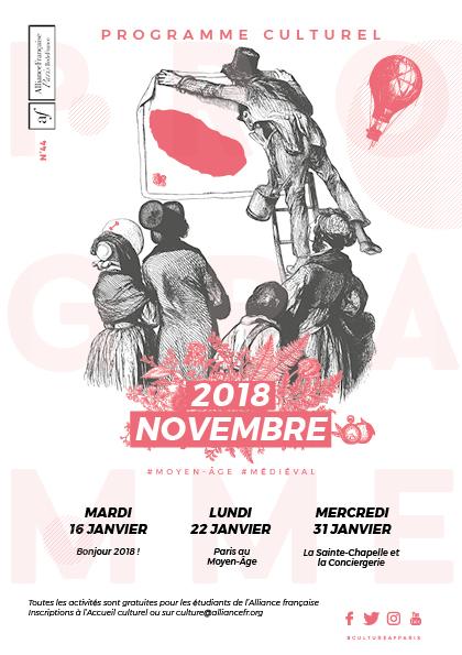 Alliance Française : Couverture du mois de novembre 2018
