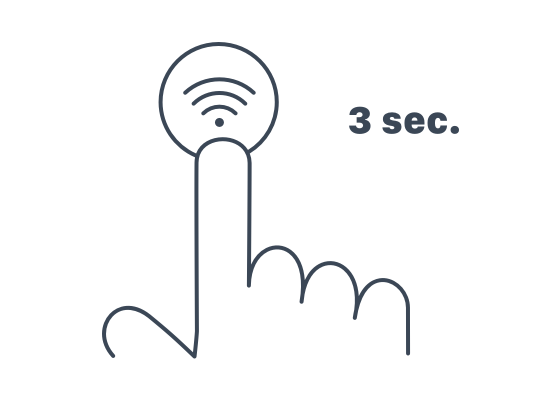 Pure Air by Rowenta : Illustrations - Press Wifi button