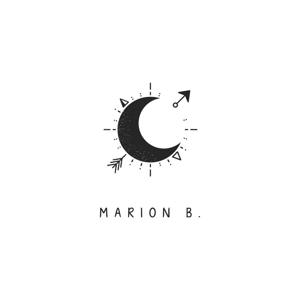 Marion b. : Logo en monochrome noir