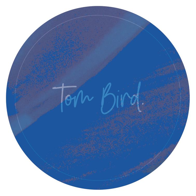 Tom Bird : Sticker bleu